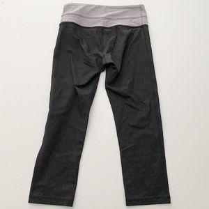 Lululemon capris flecked dark gray lavender waist